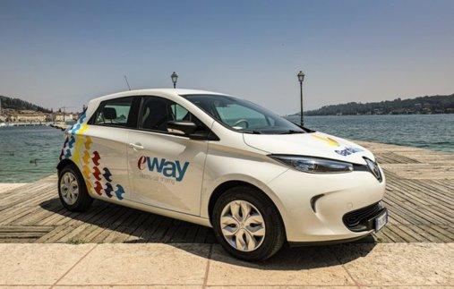 Sul lago di Garda il car sharing con le Renault Zoe