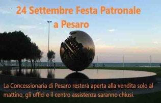 24 SETTEMBRE FESTA PATRONALE A PESARO