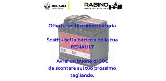 Sostituzione batteria renault