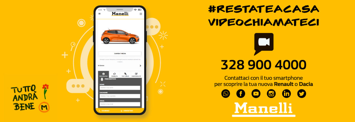#restateacasa, videochiamateci!