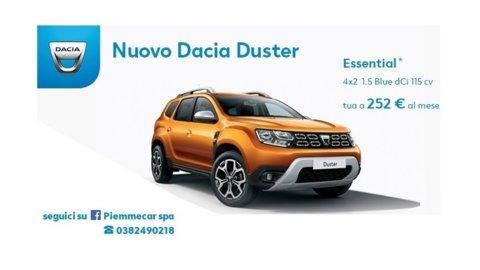 DACIA DUSTER ESSENTIAL 4X2 1.5 BLUE DCI 115 CV TUA A 252€ AL MESE!