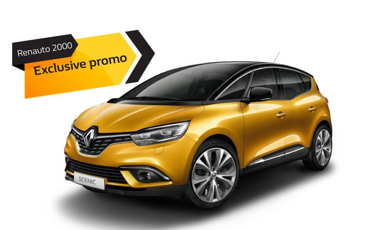 Promo Renault Scenic 9 € al giorno