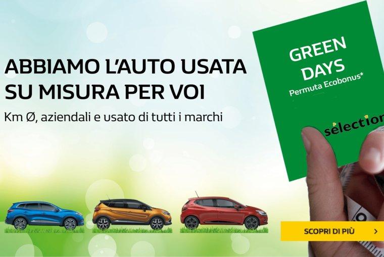GREEN DAYS - SU TUTTE LE VETTURE USATE
