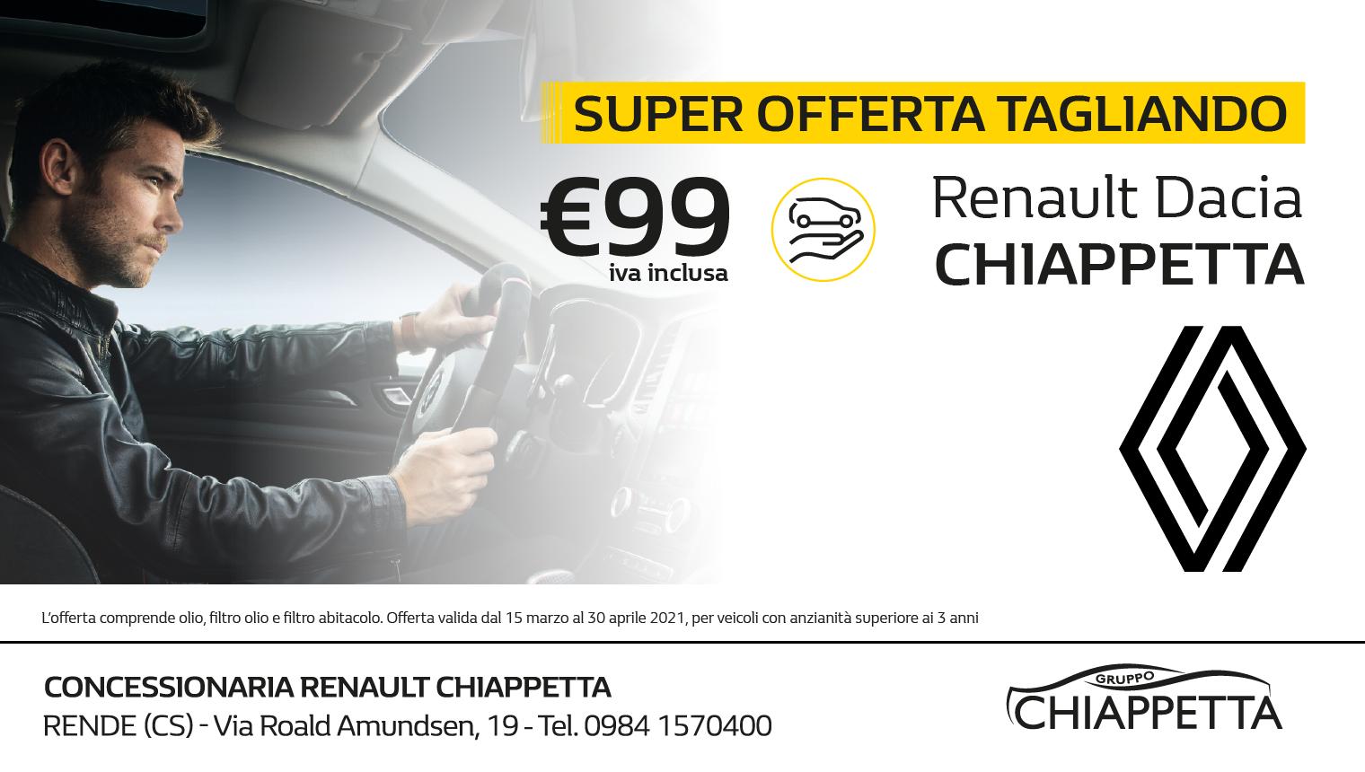 Super Offerta Tagliando Renault Dacia Chiappetta